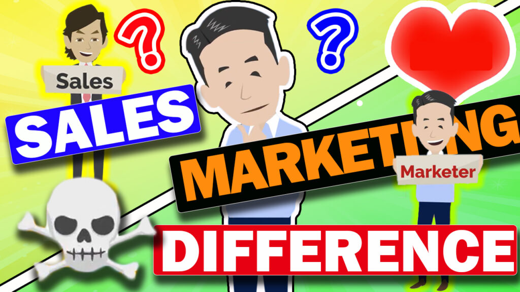 The difference between sales and marketing