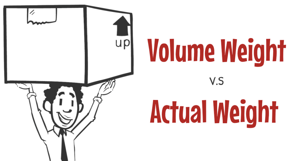 Difference between Actual Weight and Volume Weight