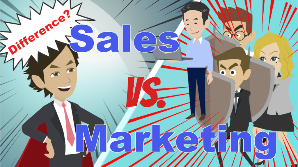The difference between sales and marketing.